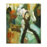 Tablou Arta Clasica Pictor Edgar Degas Portrait after a Costume Ball. Portrait of Madame Dietz Monnin 1879 80 x 90 cm