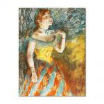Tablou Arta Clasica Pictor Edgar Degas Singer in Green 1884 80 x 100 cm