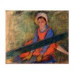Tablou Arta Clasica Pictor Edgar Degas Woman Seated on a Bench 1885 80 x 90 cm