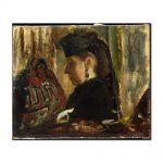 Tablou Arta Clasica Pictor Edgar Degas Mademoiselle Marie Dihau 1868 80 x 100 cm