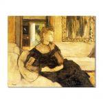 Tablou Arta Clasica Pictor Edgar Degas Madame Gobillard, Yves Morisot 1869 80 x 100 cm