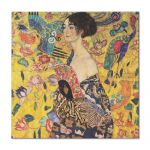 Tablou Arta Clasica Pictor Gustav Klimt Lady with Fan 1918 80 x  80 cm
