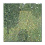 Tablou Arta Clasica Pictor Gustav Klimt Landscape Garden. Meadow in Flower. Blumenwiese 1906 80 x  80 cm