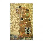 Tablou Arta Clasica Pictor Gustav Klimt The Kiss 1908 80 x  80 cm