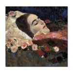 Tablou Arta Clasica Pictor Gustav Klimt Ria Munk on the Deathbed 1912 80 x  80 cm