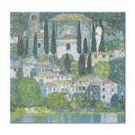 Tablou Arta Clasica Pictor Gustav Klimt Chruch in Cassone 1913 80 x  80 cm