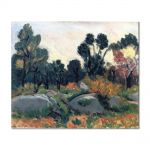 Tablou Arta Clasica Pictor Henri Matisse Landscape of Corsica 1898 80 x 100 cm