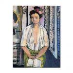 Tablou Arta Clasica Pictor Henri Matisse Reader on a Black Background 1918 80 x 100 cm