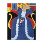 Tablou Arta Clasica Pictor Henri Matisse Woman in Blue, or The Large Blue Robe and Mimosas 1937 80 x 100 cm
