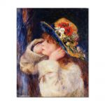 Tablou Arta Clasica Pictor Pierre-Auguste Renoir Young girl in a hat decorated with wildflowers 1880 80 x 100 cm