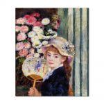 Tablou Arta Clasica Pictor Pierre-Auguste Renoir Girl with fan 1881 80 x 90 cm