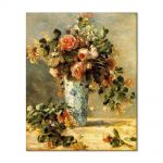 Tablou Arta Clasica Pictor Pierre-Auguste Renoir Roses and jasmine in a delft vase 1881 80 x 100 cm