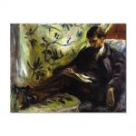 Tablou Arta Clasica Pictor Pierre-Auguste Renoir Portrait of Edmond Maitre The reader 1871 80 x 100 cm