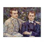 Tablou Arta Clasica Pictor Pierre-Auguste Renoir Portrait of Charles and Georges Durand-Ruel 1882 80 x 100 cm