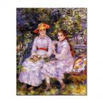 Tablou Arta Clasica Pictor Pierre-Auguste Renoir The daughters of Paul Durand-Ruel Marie-Theresa and Jeanne 1882 80 x 100 cm