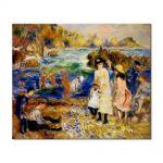 Tablou Arta Clasica Pictor Pierre-Auguste Renoir Children by the sea in Guernsey 1883 80 x 100 cm