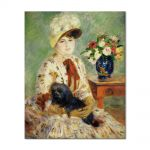 Tablou Arta Clasica Pictor Pierre-Auguste Renoir Mlle Charlotte Berthier 1883 80 x 100 cm