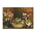 Tablou Arta Clasica Pictor Pierre-Auguste Renoir Vase basket of flowers and fruit 1890 80 x 110 cm