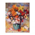 Tablou Arta Clasica Pictor Pierre-Auguste Renoir Vase of chrysanthemums 1890 80 x 100 cm