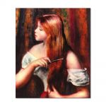 Tablou Arta Clasica Pictor Pierre-Auguste Renoir Young girl combing her hair 1894 80 x 90 cm