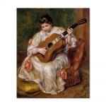 Tablou Arta Clasica Pictor Pierre-Auguste Renoir Woman playing the guitar 1896 80 x 90 cm