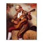 Tablou Arta Clasica Pictor Pierre-Auguste Renoir The spanish guitarist 1897 80 x 90 cm