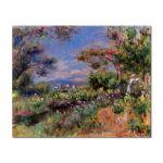 Tablou Arta Clasica Pictor Pierre-Auguste Renoir Young woman in a landscape Cagnes 1905 80 x 100 cm