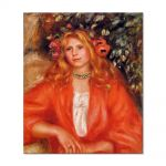 Tablou Arta Clasica Pictor Pierre-Auguste Renoir Young woman wearing a garland of flowers 1908 80 x 90 cm