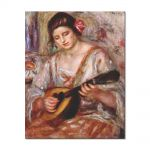 Tablou Arta Clasica Pictor Pierre-Auguste Renoir Girl with a mandolin 1918 80 x 100 cm