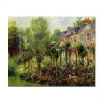 Tablou Arta Clasica Pictor Pierre-Auguste Renoir The rose garden at Wargemont 1879 80 x 100 cm