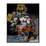 Tablou Arta Clasica Pictor Pierre-Auguste Renoir Mixed flowers in an earthware pot 1869 80 x 90 cm