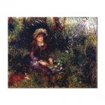 Tablou Arta Clasica Pictor Pierre-Auguste Renoir Aline Charigot with a dog 1880 80 x 100 cm