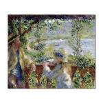 Tablou Arta Clasica Pictor Pierre-Auguste Renoir By the water Near the lake 1880 80 x 100 cm