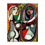 Tablou Arta Clasica Pictor Pablo Picasso Girl in front of mirror 1932 80 x 100 cm