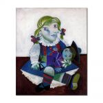 Tablou Arta Clasica Pictor Pablo Picasso Portrait of Maya with her doll 1938 80 x 90 cm