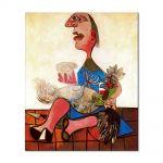 Tablou Arta Clasica Pictor Pablo Picasso Woman with cockerel 1938 80 x 90 cm