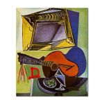 Tablou Arta Clasica Pictor Pablo Picasso Still life with Guitar 1942 80 x 90 cm