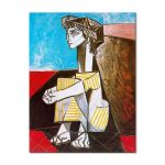 Tablou Arta Clasica Pictor Pablo Picasso Portrait of Jacqueline Roque with her hands crossed 1954 80 x 100 cm