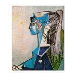 Tablou Arta Clasica Pictor Pablo Picasso Portrait of Sylvette David in green chair 1954 80 x 100 cm