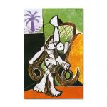 Tablou Arta Clasica Pictor Pablo Picasso Naked woman in rocking chair 1956 80 x 120 cm