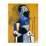 Tablou Arta Clasica Pictor Pablo Picasso Seated woman 1960 80 x 100 cm