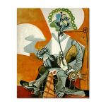 Tablou Arta Clasica Pictor Pablo Picasso The Man with a Pipe 1968 80 x 100 cm