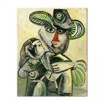 Tablou Arta Clasica Pictor Pablo Picasso Paternity 1971 80 x 100 cm