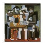 Tablou Arta Clasica Pictor Pablo Picasso Musicians with masks 1921 80 x  80 cm