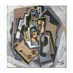 Tablou Arta Clasica Pictor Salvador Dali Pierrot and Guitar 1924 80 x  80 cm