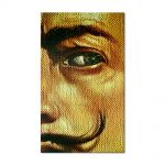 Tablou Arta Clasica Pictor Salvador Dali Macrophotographic Self-Portrait with the Appearance of Gala 1962 80 x 120 cm