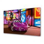 Tablou Canvas cu Ceas Animatie pentru Copii Cars 2 2011, 30 x 45 cm