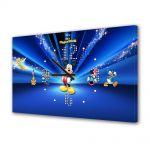 Tablou Canvas cu Ceas Animatie pentru Copii Disney Personajele, 30 x 45 cm