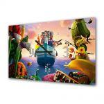 Tablou Canvas cu Ceas Animatie pentru Copii Cloudy With a Chance of Meatballs 2 Revenge of the Leftovers, 30 x 45 cm