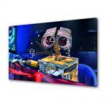 Tablou Canvas cu Ceas Animatie pentru Copii Wall E 2, 30 x 45 cm